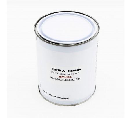 Pot de peinture 603 noir à chassis Monopol 1L