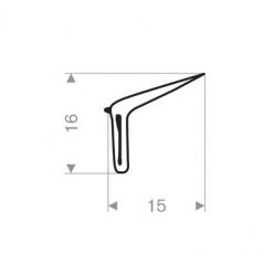 Kit de 4 lécheurs extérieur de vitre pour Peugeot 203 Berline, Break (avec déflecteur)